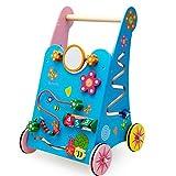 AIBAB 3 Anni Bambino Educazione Precoce Legno Bambino Camminatore Carrello Aggravamento Multifunzione Bambino Apprendimento Giocattolo