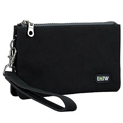 EOTW Wristlet Bag for Women Handy Lightweight Clutch Bags for Ladies Slim Portable Organiser Purse Cash Key Card Phone Plenty Room with 5 Pockets 2 Zippers Holder Handbag