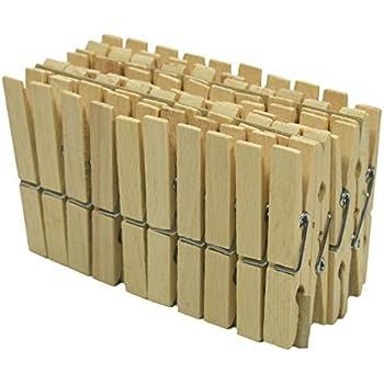 50 Wäscheklammern Holz Klammern 72x11cm Aus Holz Natur Ideal Zum Basteln