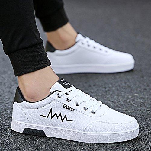 XUEQIN scarpe da uomo trendy bianco scarpe scarpe casual scarpe scarpe di tela autunno ( Colore : 3 , dimensioni : EU39/UK6.5/CN40 ) 4