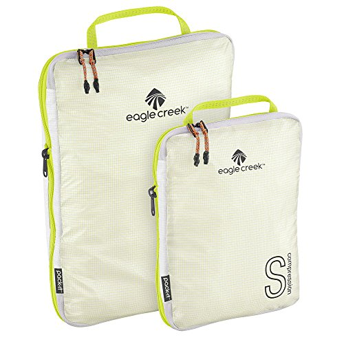 Eagle Creek Pack-it Specter Tech Compression Cube Set S/m Organizador para Maletas, 34 cm, 8.5 Litros, White/Strobe Eagle Creek