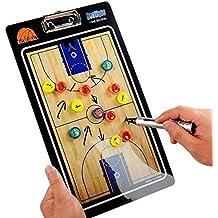 HUYUHAN Tabla magnética de entrenamiento con marcador y borrador, para baloncesto profesional, entrenador de fútbol y baloncesto escolar, entrenador de fútbol/fútbol, Basketball