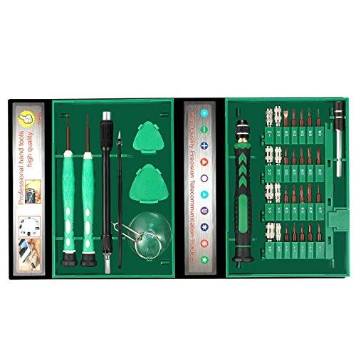 38 in 1 Schraubendreher Set,Geepro Magnetische Präzisions Schraubendreher Reparatur Werkzeug set für iPad, iPhone, Tablets, Laptops, PC, Brillen.