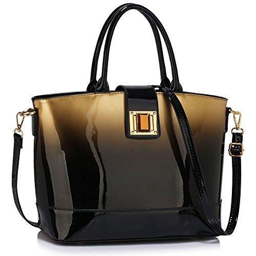 womens-handbags-ladies-designer-faux-leather-stylish-tote-shoulder-bag-gold-shoulder-bag