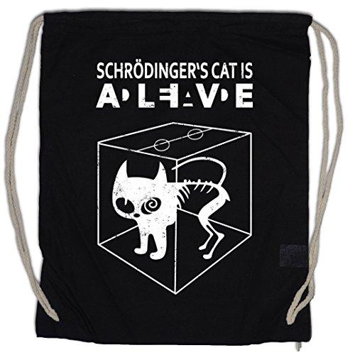 Urban Backwoods SCHRÖDINGER´S Cat is Alive Dead II Turnbeutel The Big Schroedinger TV Bang Theory (Big Sports Bag Cat)
