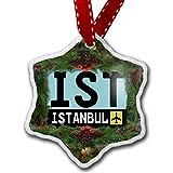 NEONBLOND Weihnachten Ornament Flughafen Code ist/Istanbul Land: Türkei