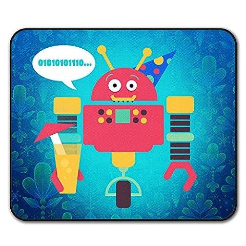 Robot Drôle Junkie Geek Enfant Amusement La Antidérapant Tapis de Souris 24cm x 20cm   Wellcoda