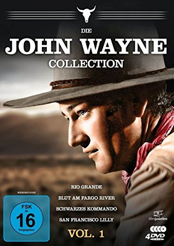 Die John Wayne Collection - Vol. 1 (Rio Grande/Blut am Fargo River/Schwarzes Kommando/San Francisco Lilly) [4 - Collection John Wayne Western
