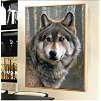 5D Diamond Painting Wolf Picture Diamond Embroidery Diamond Mosaic Full Square Animal Home Decoration 30X40cm