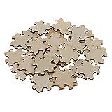 D DOLITY 50 Stück Puzzle DIY, Herzpuzzle zum Bemalen Puzzle Herz, DIY Puzzle, Herzpuzzle zum Bemalen