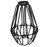 Vintage Käfig Draht Lampenschirm, MOTENT Retro Industrielle Metall DIY Stehlampe Pendelleuchte 4,13