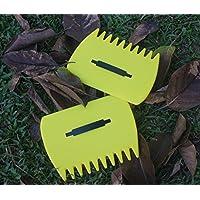 warkhome Foglia Cucchiaio, Leaf Rastrelli a Mano, Paletta in plastica per erba e foglie Raccoglitori per giardino, rifiuti, ottimo strumento (Confezione da 2)