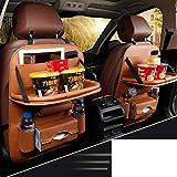 Hxdeli Auto Rücksitz Organizer Protector,Universell einsetzbar als Auto Rücksitz Organizer für Kinder,Lagerung-Flaschen,Tissue Box,Spielzeug-A