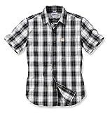 Carhartt Short Sleeve Shirt Black US Mode Workwear Western Kleidung Bekleidung Outdoor Bekleidung Freizeithemd Shirt Westernshirt Arbeitshemd (Large) Schwarz
