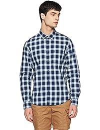 Indian Terrain Men's Checkered Slim Fit Cotton Casual Shirt