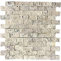 Naturstein Mosaik/Mosaikfliese Aus Naturstein Als Wandstein/Steinwand/Verblendstein  | Wandverkleidung Für