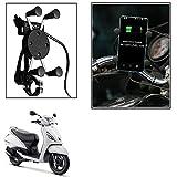 Vheelocityin Spider Bike Mobile Holder with USB Charger Mototrcycle Mobile Holder BracketFor Tvs Jupiter