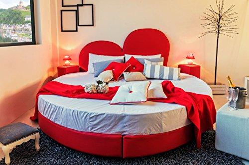 Ponti Divani Brücken Sofas Love–Einzige Bett Herzform komplett mit Matratze Kunstleder rot