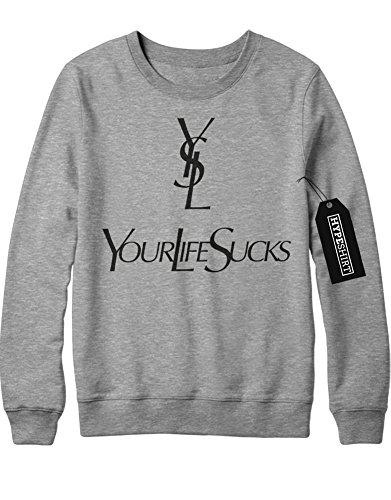 sweatshirt-yls-your-life-sucks-h989923-grau-m