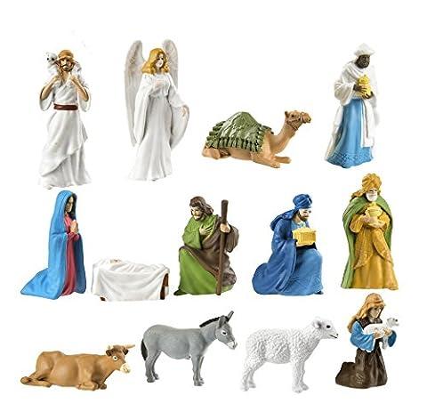 Safari Ltd. Toob® 660504 - Die Weihnachtsgeschichte - 13 Handbemalte Sammelfiguren in Tube