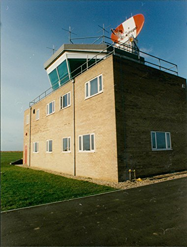 Vintage photo of The new control tower in maroni radar end. Radar Tower