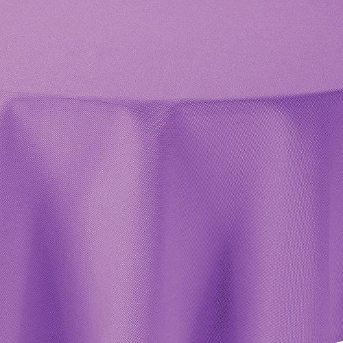 amp-artshop Tischdecke Leinen Optik Oval 160x220 cm Flieder Hell Lila - Farbe , Form & Größe wählbar mit Lotus Effekt - (O160x220Flieder) (Lila Leinen)