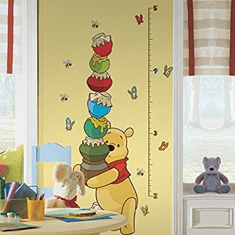 Roommates RMK1501GC Pooh & Friends Grwth Chart Metric Sticker Plastique Multicolore 49,05 x 13,81 x (Metri Stick)