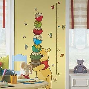 Roommates INT1501GC Pooh & Friends Grwth Chart Metric Sticker  Plastique Multicolore 49,05 x 13,81 x 11,27 cm