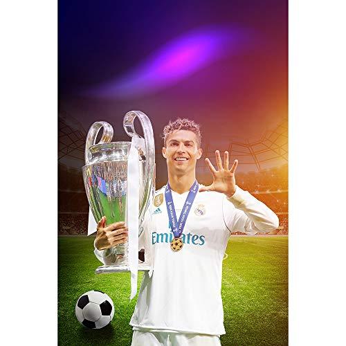 Earendel Superstar Cristiano's Gedächtnis! Ronaldo Führt Real Madrid An, Um Den Dreizehnten Champions League-Pokal Gedenk HD Poster Zu Gewinnen Fans Dekorative Sport Wandaufkleber