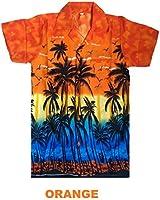 MENS HAWAIIAN SHIRT STAG BEACH HAWAII ALOHA PARTY SUMMER HOLIDAY FANCY PALM