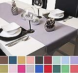 Roban Fashion Chemin de Table Nappe 40 cm de Large en 26 Couleurs, Gris argenté, 40x220 cm