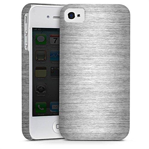 Apple iPhone 5 Housse Étui Silicone Coque Protection Metal Look argent Paillettes Métal Cas Premium mat
