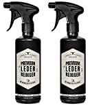Premium LEDERREINIGER optimal zur Reinigung von Leder - URBAN FOREST Lederpflege für Auto Möbel Motorradbekleidung Handtaschen Ledercouch Schuhe Sattel mit natürlichem Avocado-Öl, Set: 2 x 500ml