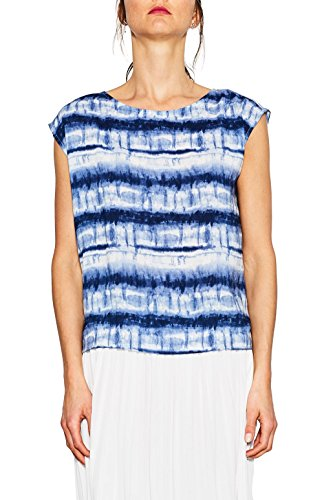ESPRIT Damen Bluse 057EE1F016 Mehrfarbig (Ink 415), 38 (Batik-bluse)