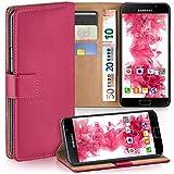 moex Samsung Galaxy A5 (2016) | Hülle Pink mit Karten-Fach 360° Book Klapp-Hülle Handytasche Kunst-Leder Handyhülle für Samsung Galaxy A5 2016 Case Flip Cover Schutzhülle Tasche