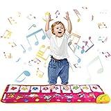 Shayson Tappetino Pianoforte, Tappetino per la Musicale Baby Educazione Precoce 9 Suoni, Pianoforte Musicale Giocattoli per Bambini Regalo per Bambini