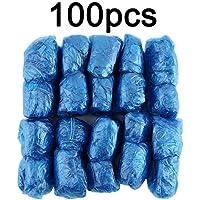Wenwenzui-ES 100 Unids/Set Desechables Cubiertas de Zapatos de Plástico Habitaciones Al Aire Libre Impermeable Bota de Lluvia Alfombra Limpia Zapatos de Calzado de Hospital Zapatillas