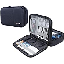 BUBM Organizador para Eléctronica Estuche para iPad Mini Bolsa de Cables Funda de Bantería extra(pequeño, azul oscuro)