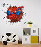 Decals Design 'Spiderman Super Hero Cartoon' Wall Sticker (PVC Vinyl, 60 cm x 90 cm x 1 cm)