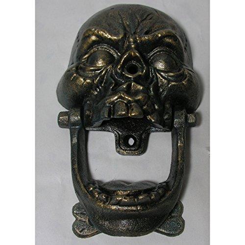 Gr Ausgefallener Türklopfer Totenkopf Gusseisen Antik Design Gothic Skull Horror