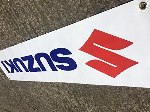 Catchy 'SUZUKI' Banner Windmesser für Garage Wand oder außerhalb, Event Gebrauch 5ft x 1ft - 5' Wand