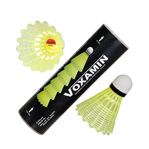 Voxamin LS-225 Badminton Nylon Shuttlecocks (Pack of Six).