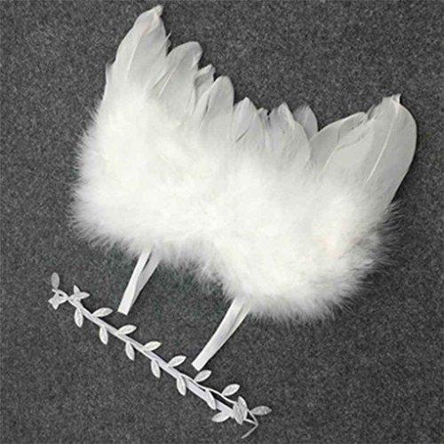Baby Newborn Winkel Feder-Flügel-und Ölzweig-Stirnband-Fotografie Prop-Klage-Kind-Kleidung-Klage