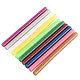 100Glitzer Hot Melt Kleber Stick für die elektrische Heizung Klebstoff Sticks DIY Art Craft Befestigung Tools gemischt Farben 7x 100mm