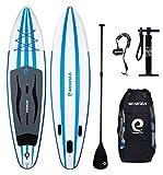 WOWSEA Surfboard aufblasbar Paddle Paddle Board, aufblasbar mit-Größe 335x 81x 15cm, Traglast 145–150kg