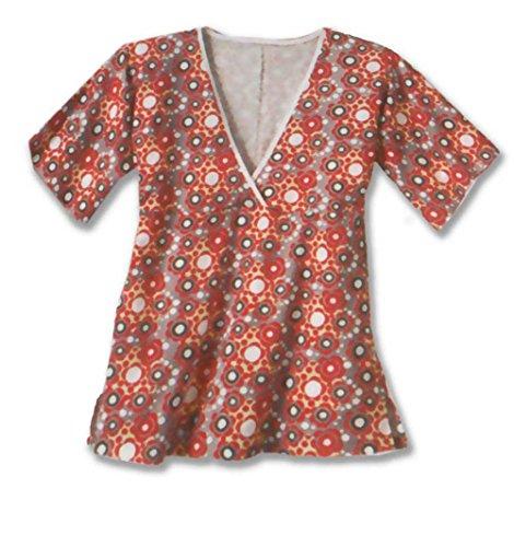 adonia mode Babydoll Tunika-Shirt in Wickeloptik , Gr. 44/46 - 60/62 Grau/Rot/Hellgelb/Schwarz/Weiß