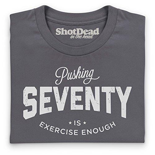Pushing Seventy T-Shirt, Herren Anthrazit