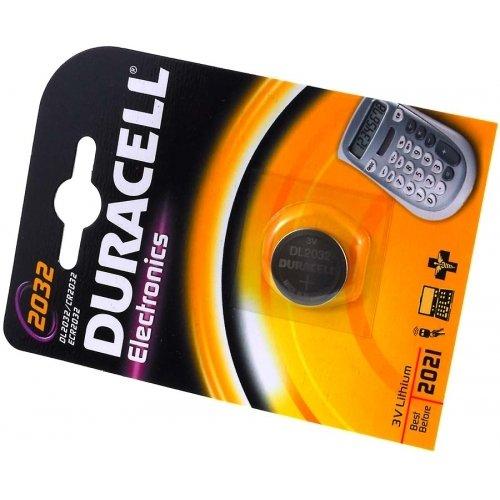 Duracell Lithium Knopfzelle CR 2032, blister 1 Stück, 3,0V, Lithium Duracell 3v Lithium Cell Battery