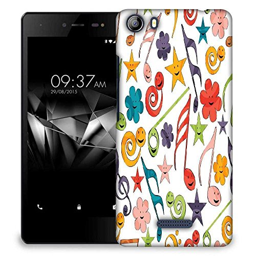 Snoogg Smiley Strings Designer Protective Phone Back Case Cover For Micromax Canvas 5 E481  available at amazon for Rs.299
