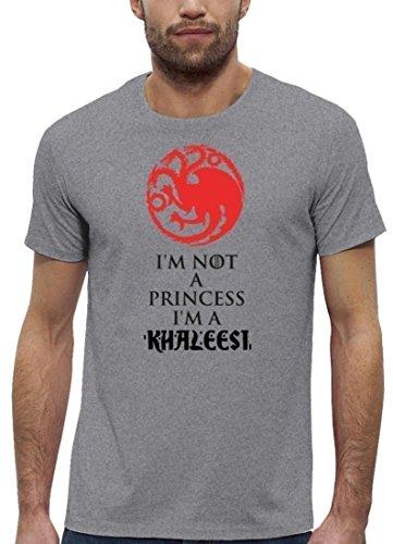 Serien Premium Herren T-Shirt aus Bio Baumwolle I'm Not A Princess I'm A Khaleesi Stanley Stella Heather Grey